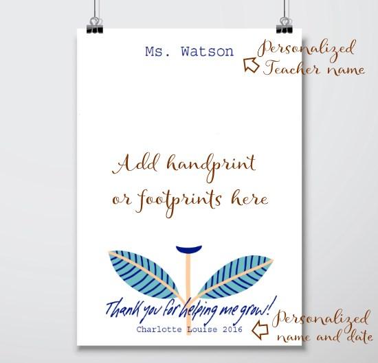 Hanpdrint Art Template - Teacher Thank you Gifts