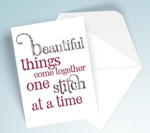 Printable Card - Beautiful things Stitch
