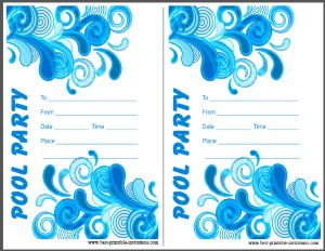 Printable Adult Pool Party Invitations