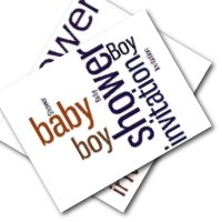 Baby Boy baby shower printable invitations - free printable invites