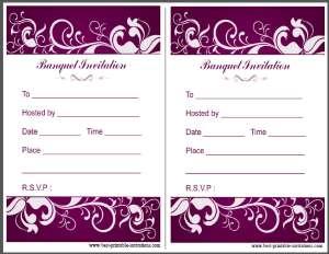Free printable banquet invitation