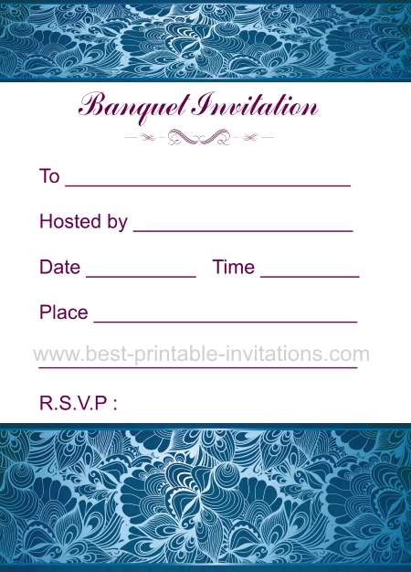 Printable Banquet Invitation
