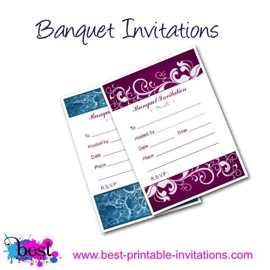 Banquet Invitation - Free printable invites