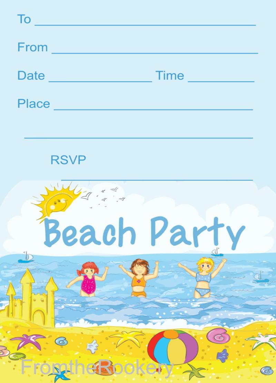 Free Beach Party Invitations