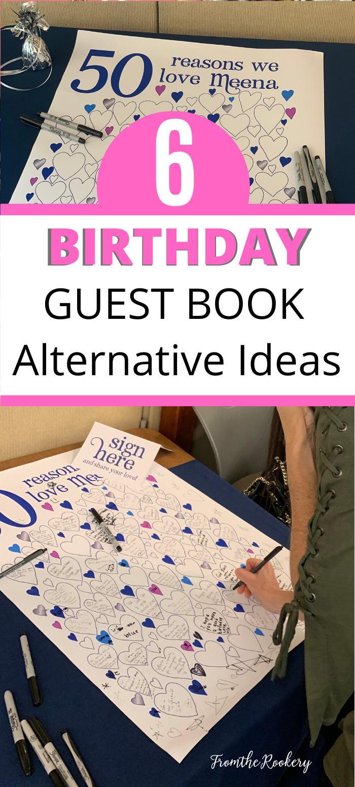 Birthday Guest Book Ideas
