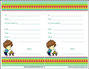 Printable Boy Birthday Invitations for Kids