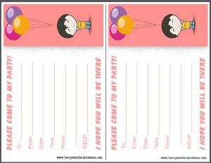 Kids Birthday Invitations Free