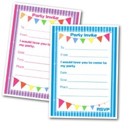 Kids Birthday Invitations Printable