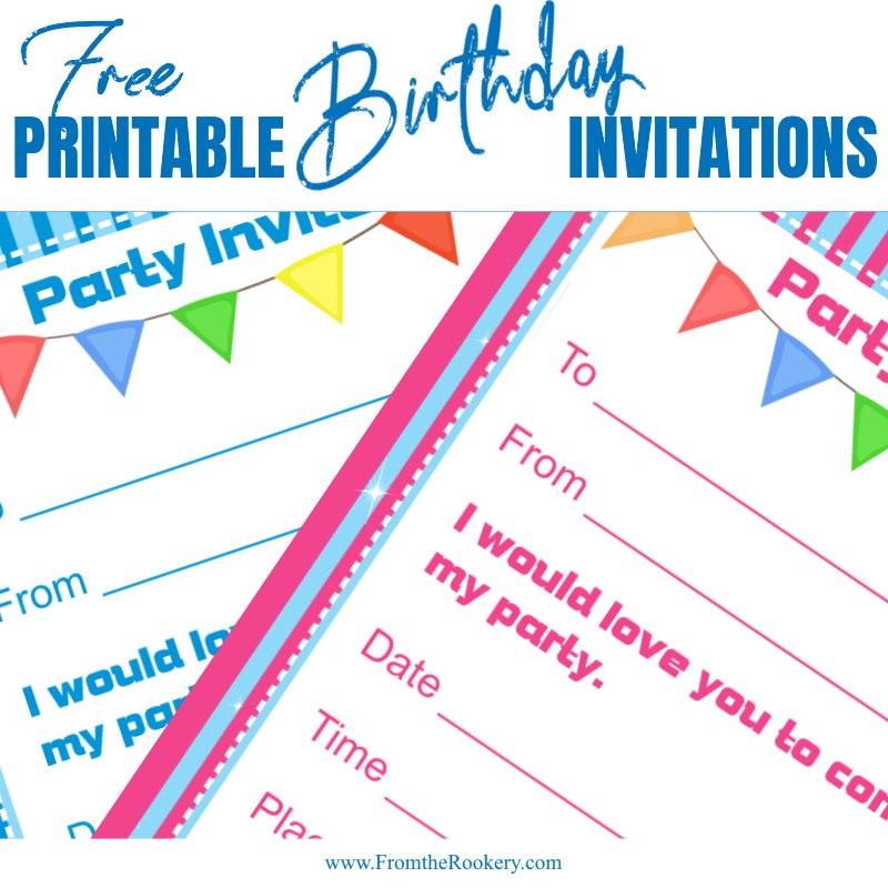 Pennants birthday invitation