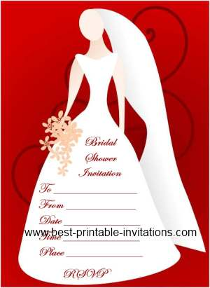 Blank Bridal Shower Invitations - Free Printable Invites