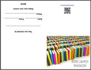 Printable Book Launch Invitation