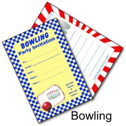 Fun Bowling Party Invites