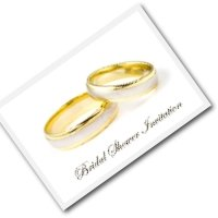 bridal invitation - wedding rings