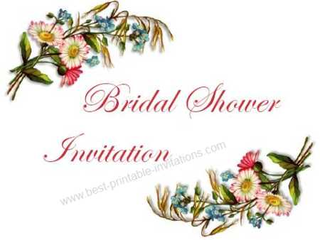 Bridal Shower Printable invitations - wildflower bouquet