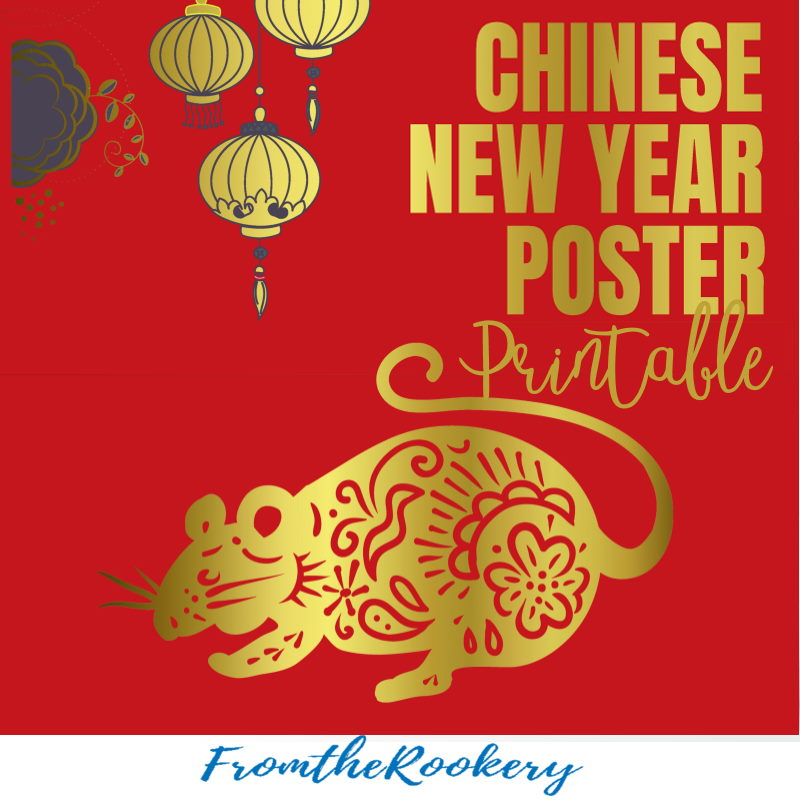 Chinese New Year Poster Printable
