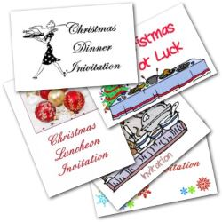 Christmas lunch invitations - Free printable