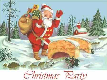 Christmas party invitation - Printable Free Invitations