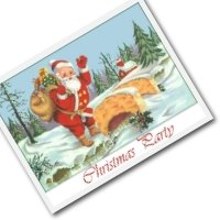 Christmas Party invitation - Christmas card invitations