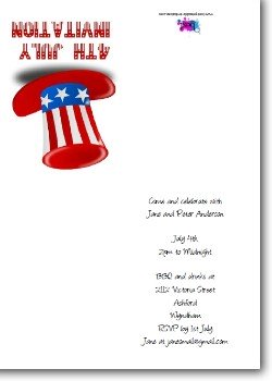 Customized 4th of July Invitation