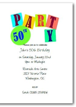 Personalized 50th Birthday Invitation