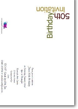 Customized 50th Birthday Party Invitation