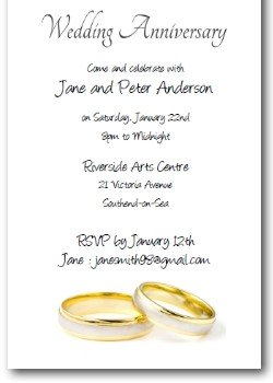 Personalized Printable Wedding Anniversary Invitation