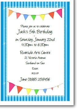 Personalized Kids Birthday Invitation - Blue