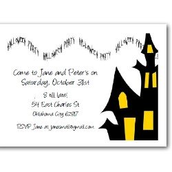 Personalized Halloween Invitations - House