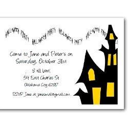 Personalized Halloween Invites