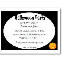 Personalized wear to scare invitation
