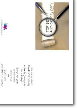 Customized Secret 40th Birthday Invitation - Surprise Party Invite