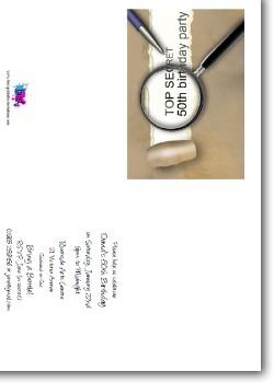Surprise 50th birthday invitations customized secret 50th birthday invitation surprise party filmwisefo