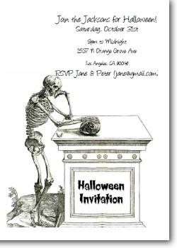 Skeleton and Tomb Custom Invite