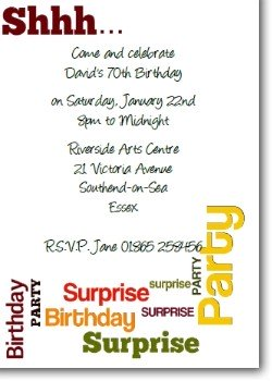 Customized Surprise Birthday Invitation