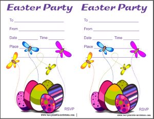 Printable Easter Party Invites