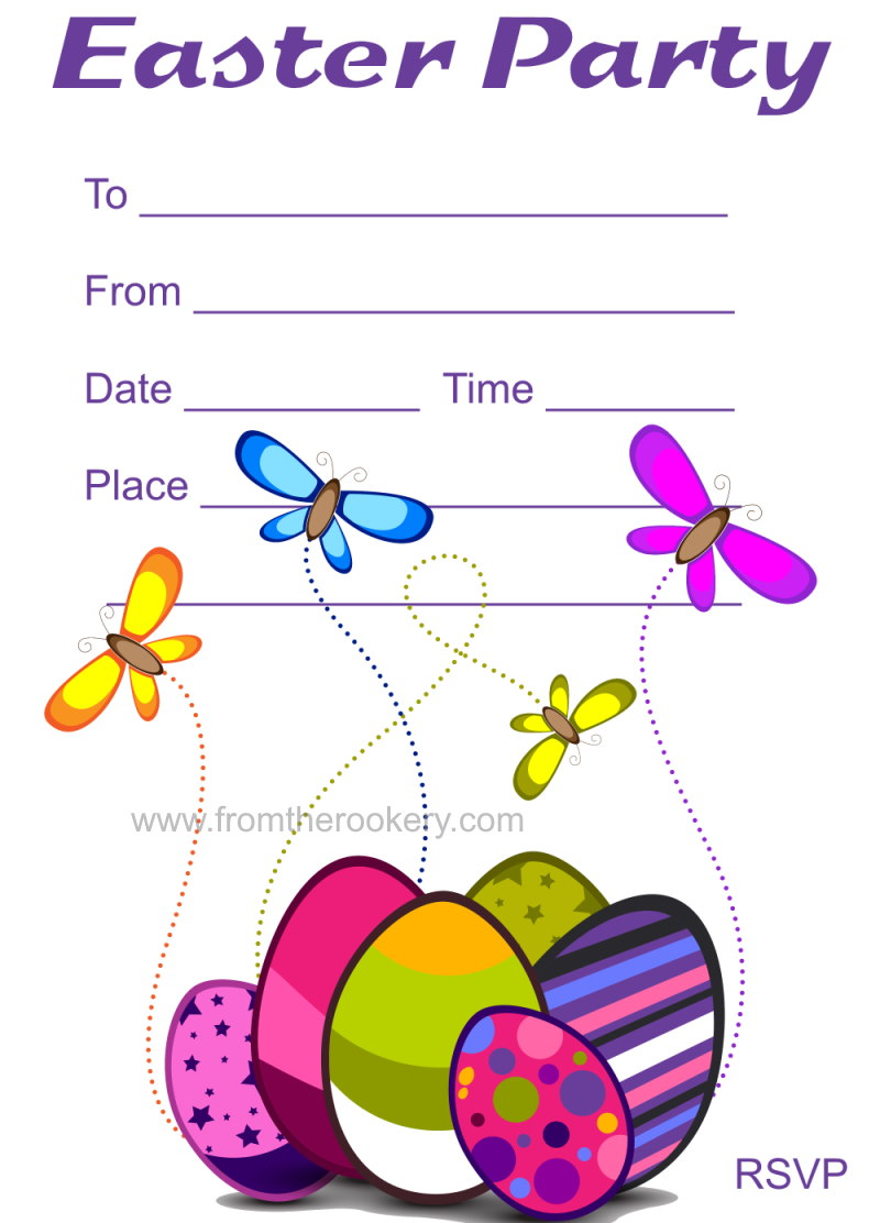 Easter Party Invitations - Free printable invites