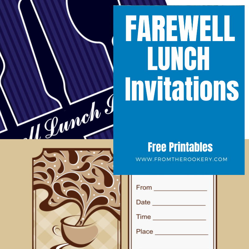 Free Printable Farewell Lunch Invitations