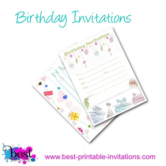 Pretty Free Birthday Invitation for your party