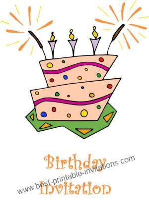 Free birthday party invitations - printable invites