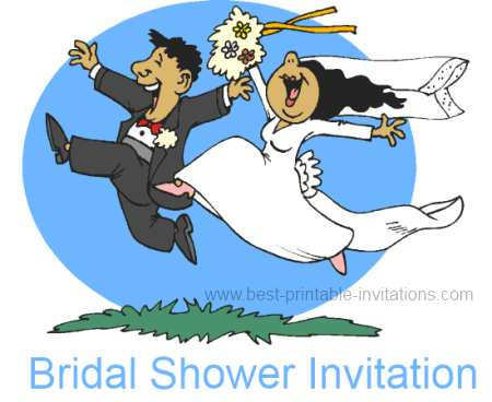 Free Bridal Shower Invitation - happy couple