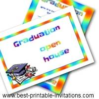 Open House Graduation Invites