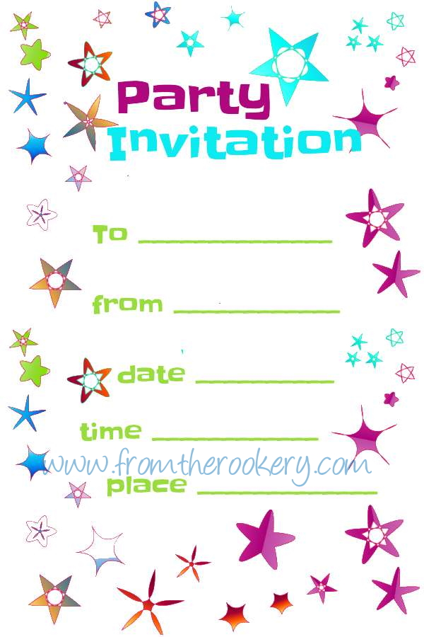 image about Printable Party Invitations identify Absolutely free Bash Invites - Printable Invitation Templates