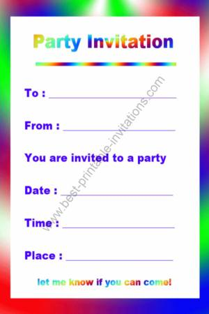 Free printable birthday invitation filmwisefo