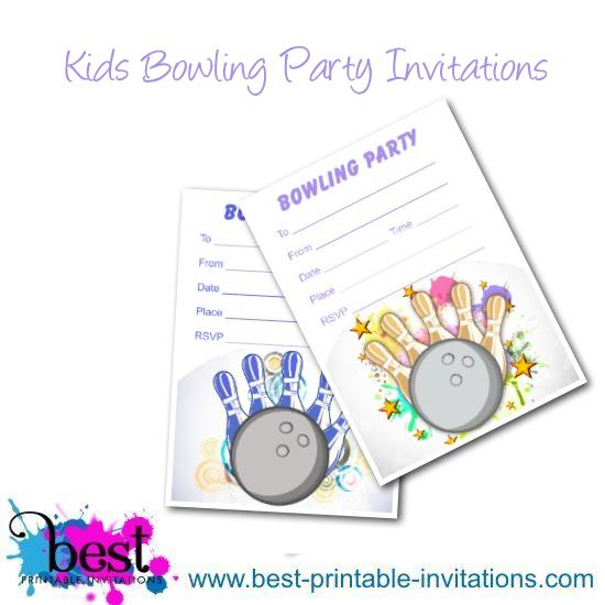 Free Printable Bowling Invitations - Birthday Party Invites for Kids