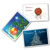Free Christmas Printable invitations - mixed designs