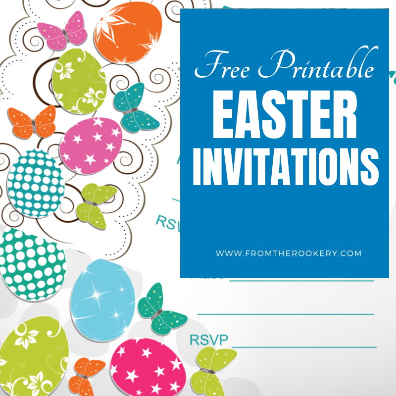 Free printable Easter party invites