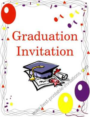 Free printable graduation invitations - Printable Graduation Party Invitation Cards