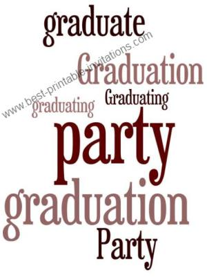 Free Printable Graduation Party Invitations - free downloadable invite