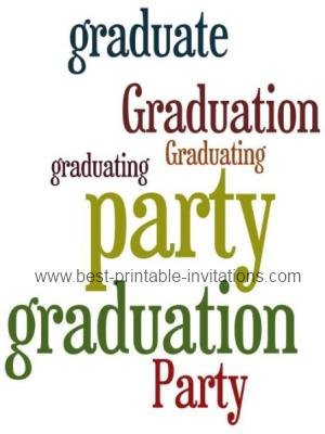 Printable Graduation party invitations - Free graduation invites