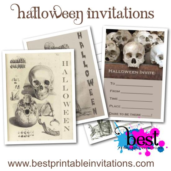 Fabulous free printable Halloween invitations